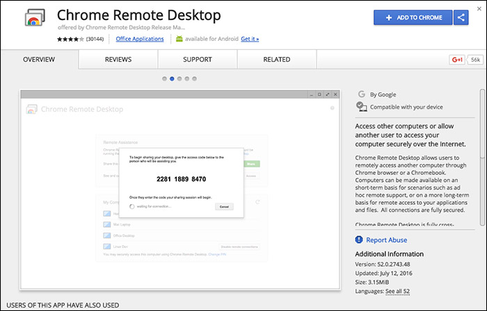 Download Chrome Remote Desktop for imessage on pc