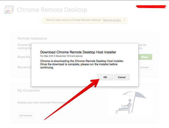 download Chrome Remote Desktop Host Installer