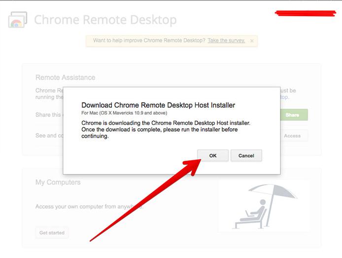 download Chrome Remote Desktop Host Installer