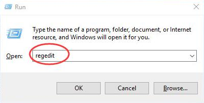 regedit on windows 10