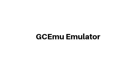 GCEmu Emulator for gamecube