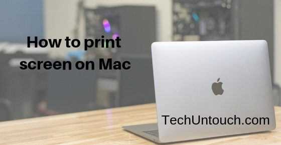 how to print screen on Mac