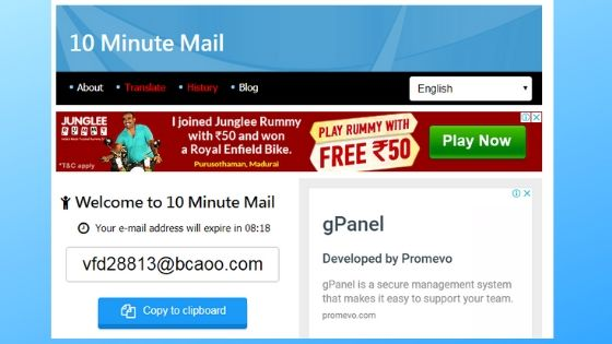 10 Minute Mail - Best Fake Email Generator