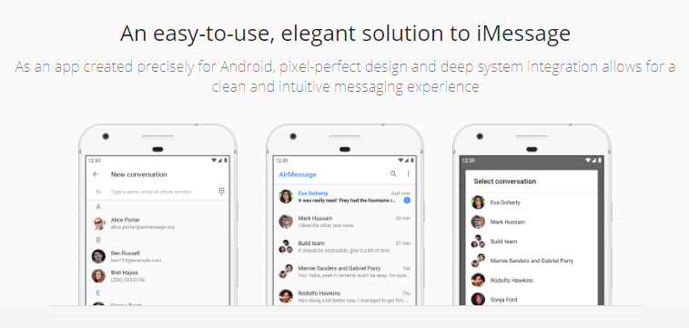 AirMessage to use iMessage on Android
