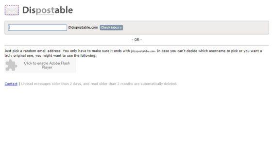 Dispostable Email - Random Email Generator