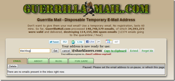 Guerrilla Mail 10 Minute email alternative