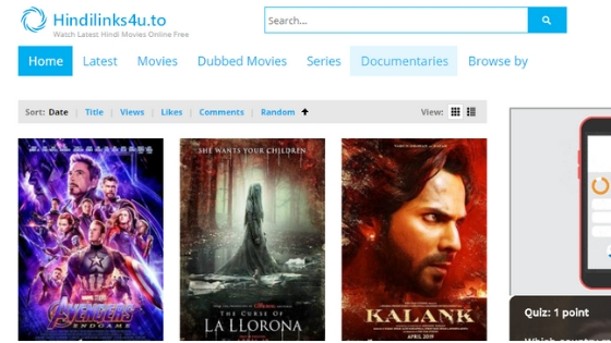 Hindilinks4u - Free online Movie Streaming Websites