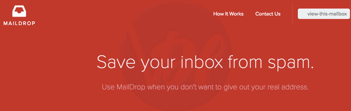 MailDrop 10 minute email alternative