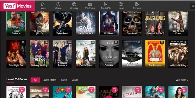 YesMovies 123movies alternative