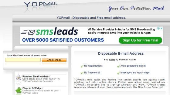 YopMail - Disposable Free Email Address