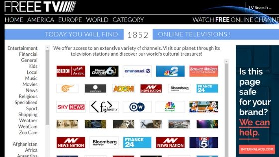 11 Free Live TV Streaming Sites [2019] - Live Internet TV | Tech Untouch