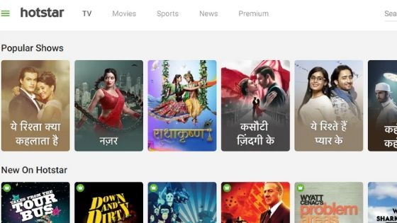 Hotstar - Best TV Streaming Website