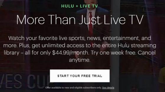 Hulu Live TV - Live Streaming Sites Free
