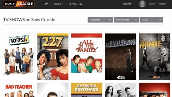 Sony Crackle - unblocked movie websites