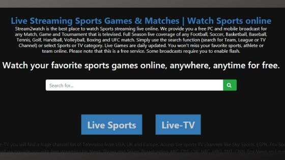 Stream2Watch - Best Free Live Streaming Site