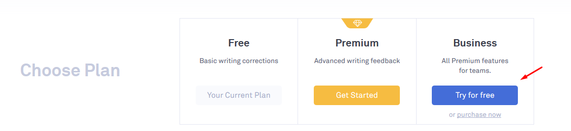 try for free grammarly premium account