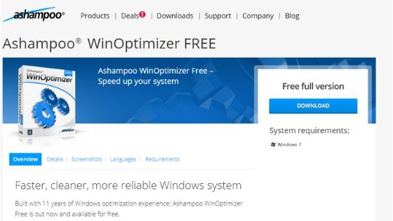 Ashampoo WinOptimizer Best Free PC Optimizer
