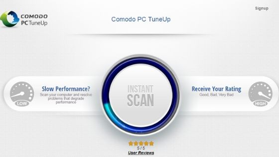 Comodo PC TuneUp Free PC Cleaner