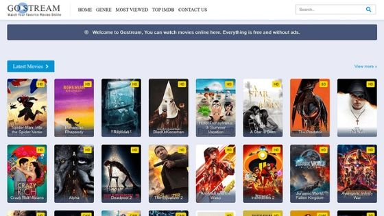 GoStream - Free Movie Streaming Site No Signup