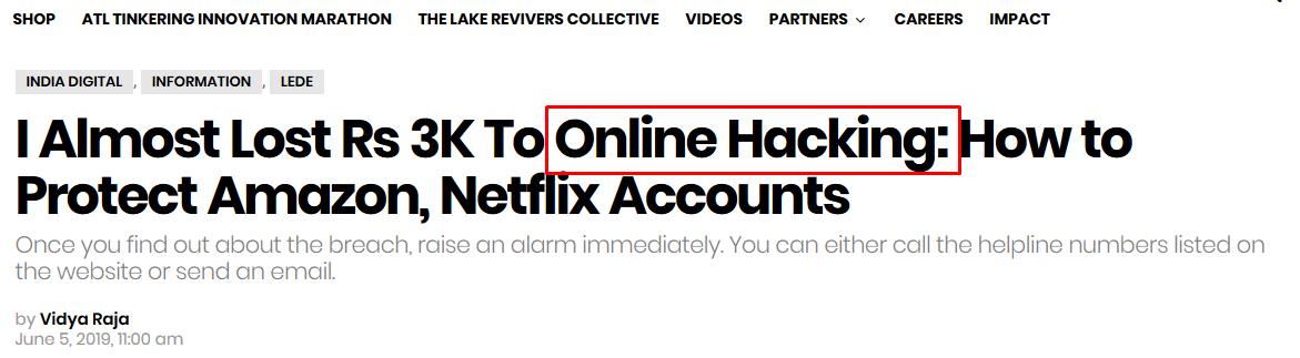 Netflix Online Hacking
