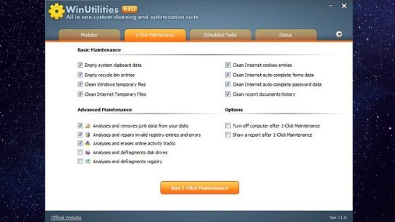 WinUtilities Pro Best Free PC Cleaner