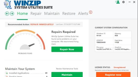 WinZip System Utilities Suite Free PC Cleaner Software