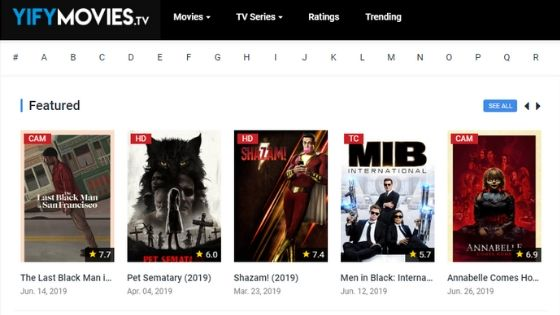 Yify TV - Free Movie Streaming Sites
