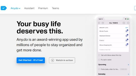 Any.do - Best Task Manager for Mac