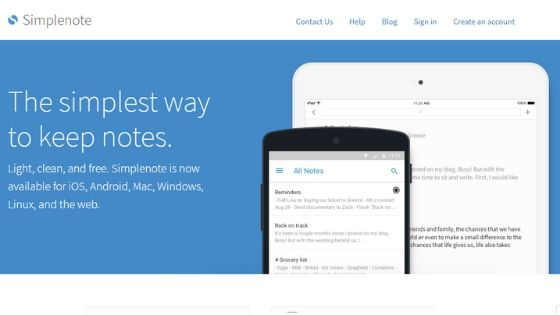 Simplenote - Best Task Manager for Mac