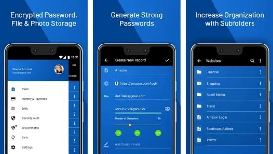 keepersecurity - Android password manager
