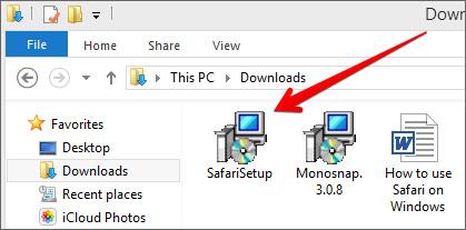 Install Safari on Windows from Zip file