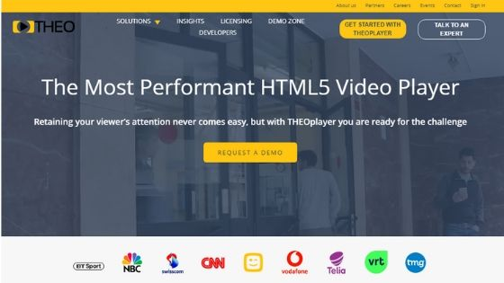 THEOplayer HTML5 Video Player - JW Player Alternative