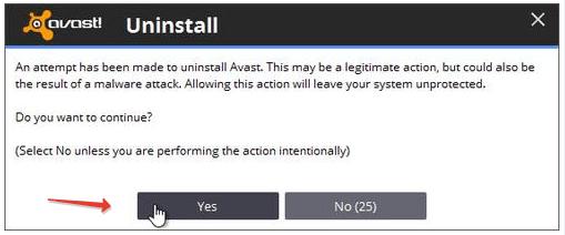 Avast Antivirus Uninstall Permission