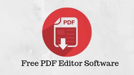 Free PDF Editor Software