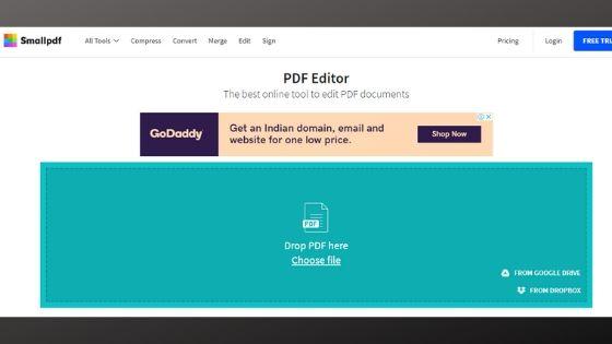SmallPDF - Online Free PDF Editor