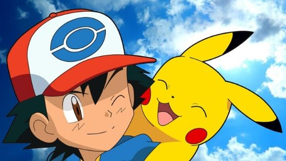 Ash Ketchum from Pokémon Famous Cartoon character