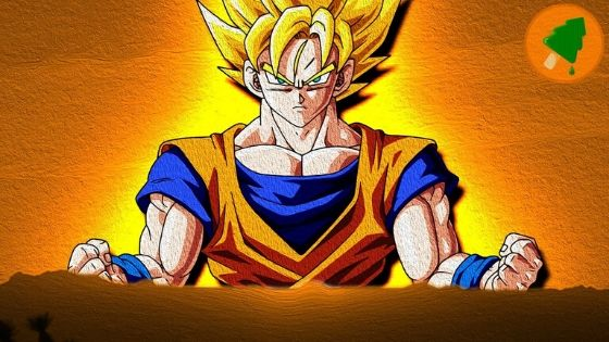 Famous Cartoon Character Goku From Dragon Ball Z