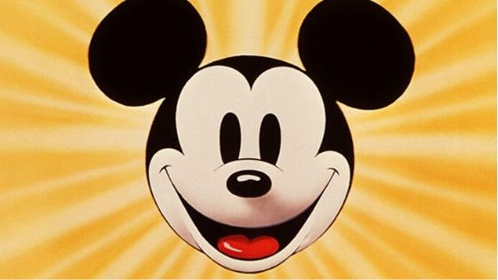 Mickey Mouse famous cartoon character