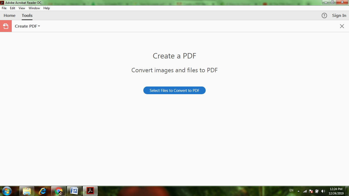 Select Files to Convert to PDF