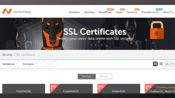 namecheap ssl certificate