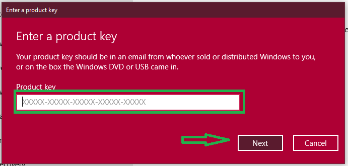 change Windows 8.1 Product key
