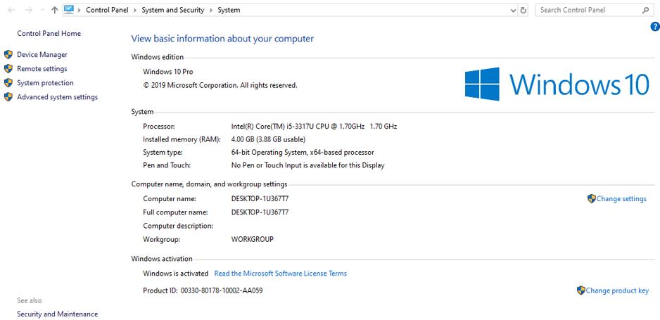 microsoft windows 10 system
