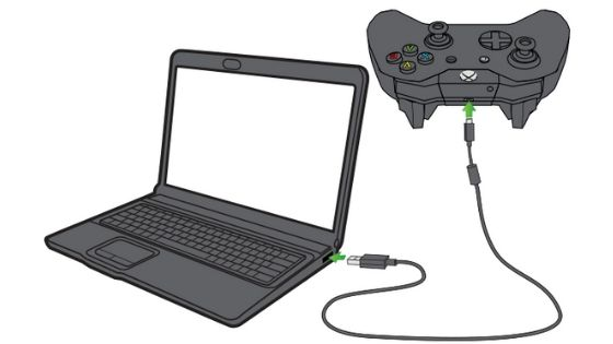 Connect an Xbox Controller to a PC via USB Cable