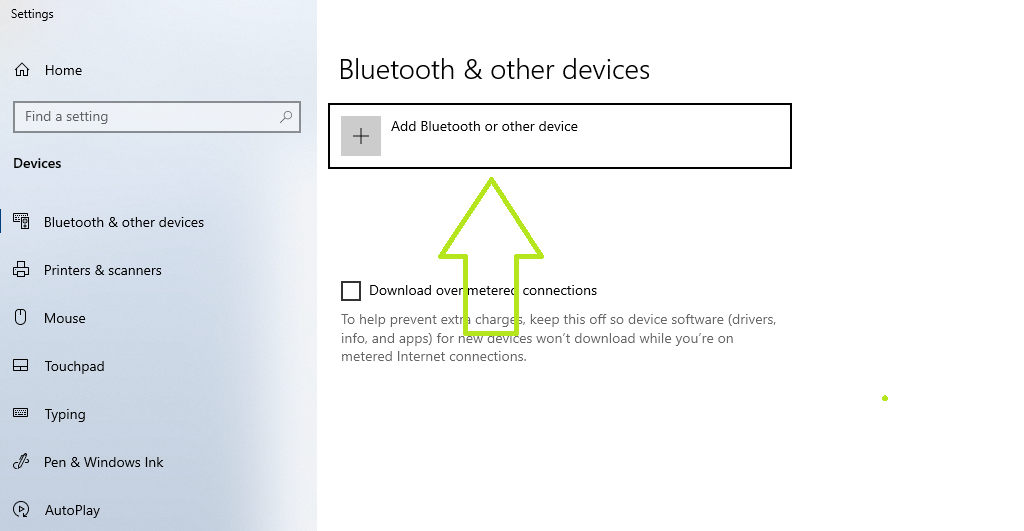 add bluetooth and other device