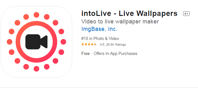intoLive – Live Wallpaper