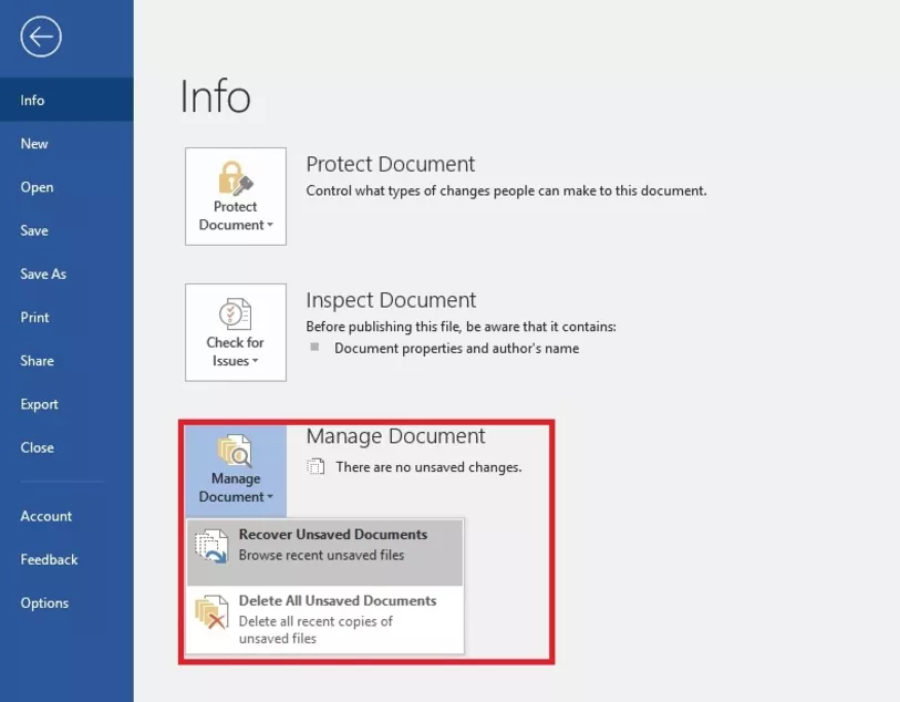 manage document in ms word