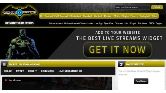 Batmanstream - free sports streaming website