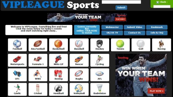 VIPLeague - free sports streaming site