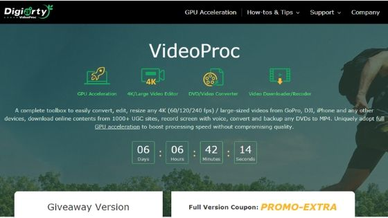 VideoProc - free video editor software without watermark