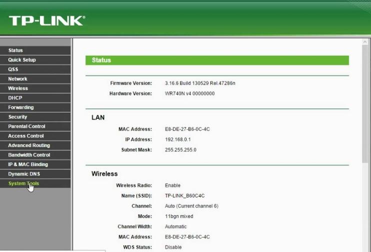 tp link router login